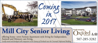 Mill City Senior Living Coming in 2017