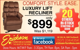 Luxury Lift Recliner only $899
