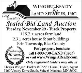 Sealed Bid Land Auction