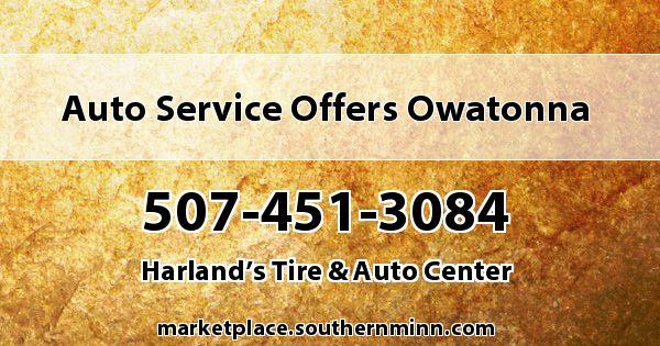 Auto Service Offers Owatonna